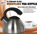 Wholesale Whistling Tea Kettle 2.5quart 2.6L polished Stainless Steel