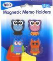 Wholesale 4 Pack Owl magnetic Memo Holders